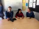 Geschafft- Lisa , Gizem und Alina nach ihrer Präsentation